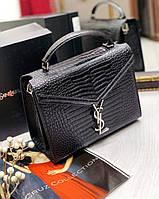 Женская кожаная сумка Yves Saint Laurent Ив Сен Лоран  под рептилию цвета 32