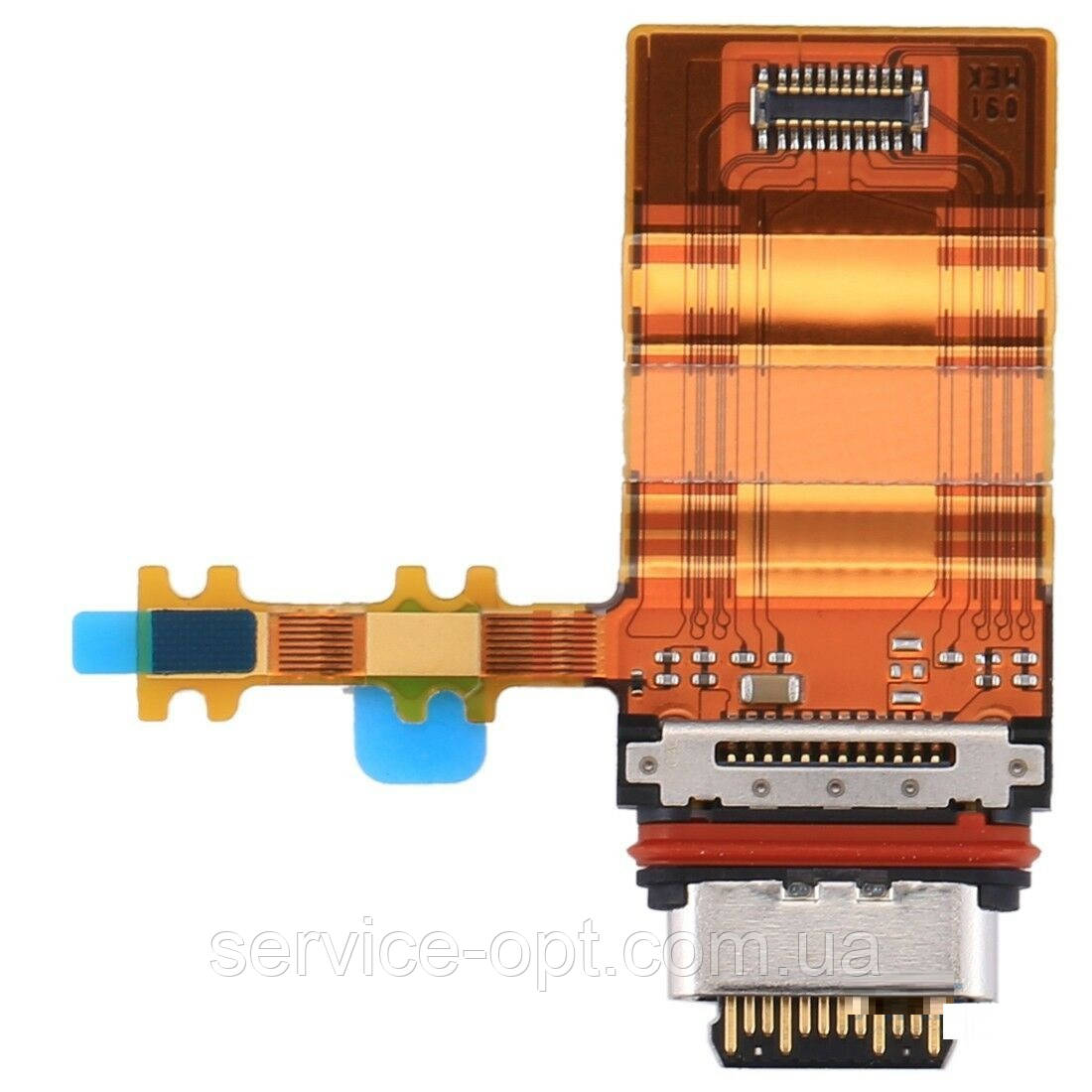 Шлейф Sony G8341 Xperia XZ1, G8342, G8343, с разъемом зарядки, с микрофоном, тип-С