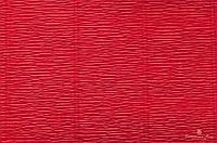 Гофрированная креп-бумага #589 алая (Scarlet Red)