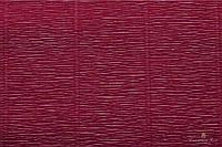 Гофрированная креп-бумага #588 бордо (Bordeaux Red)