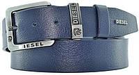 Кожаный мужской ремень Белстор, 40 мм, синий