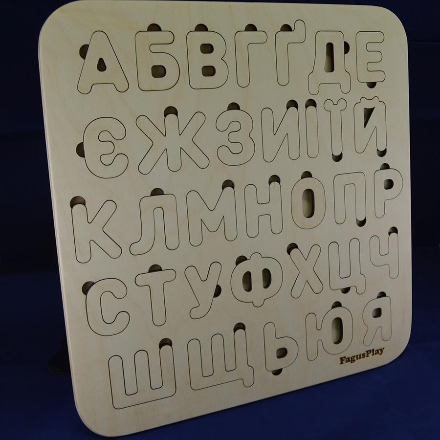 Дерев'яний алфавіт, українська мова