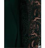 Платье женское А-силуэта с карманами темно-зеленое, фото 4