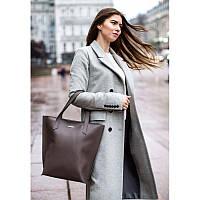 Кожаная женская сумка шоппер D.D. темно-бежевая, фото 1