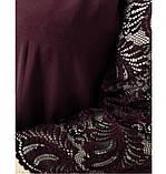 Платье женское А-силуэта с карманами цвет-бордо, фото 4
