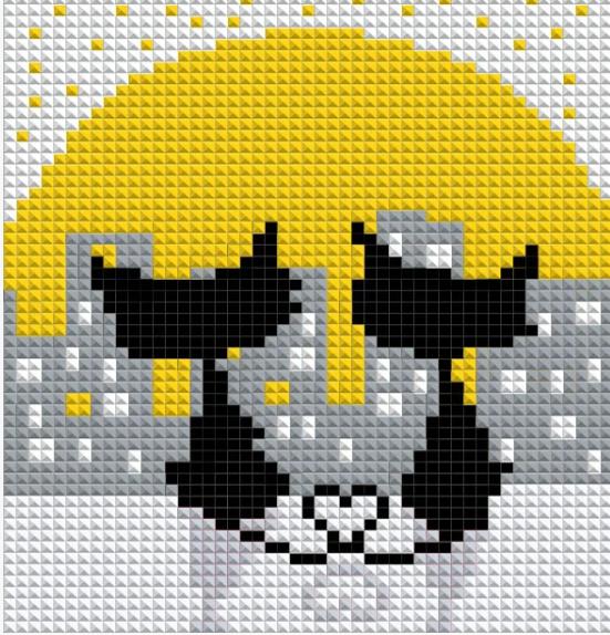 Алмазная вышивка АВ 5043 Коты (полная зашивка)
