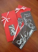 Подарочная шоколадная открытка к 8 марта