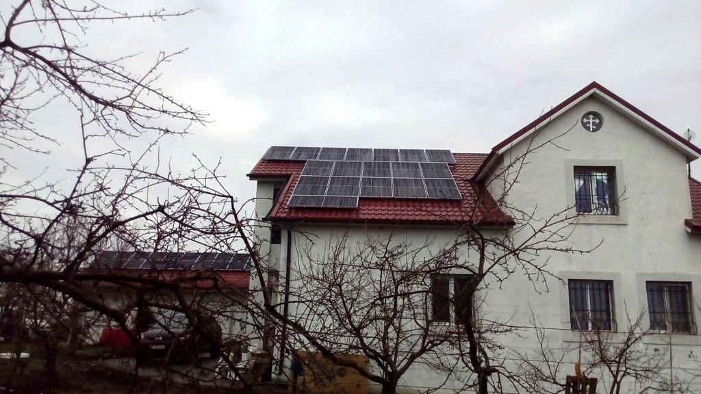 """Соленое солнечная электростанция под """"зелёный"""" тариф мощностью 12 кВт Axioma + Huawei Днепропетровская область"""