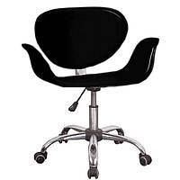 Компьютерное кресло черное Студио, регулируется, на колесах