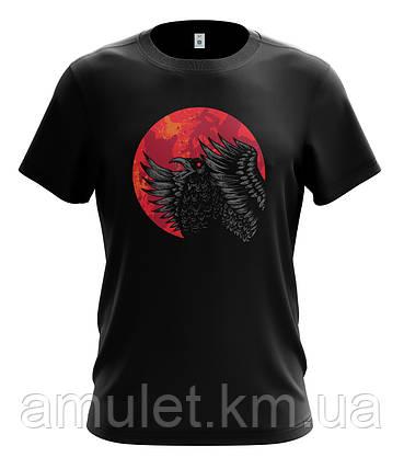 """Стильна чоловіча футболка з принтом """"Ворон"""", фото 2"""