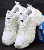 Женские кроссовки Adidas Consortium x Naked Magmur Runner белые 36-40р.  Живое фото (Реплика ААА+)