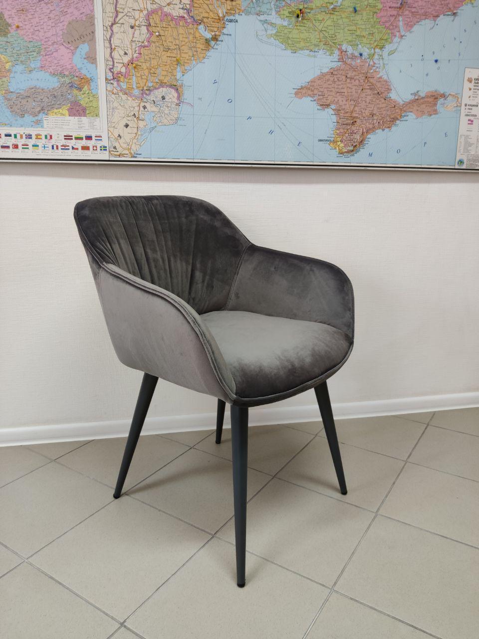 Обідній крісло CARINTHIA (Карінтія) сірий велюр від Nicolas