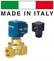 """Электромагнитный клапан CEME (Италия) 8415, НЗ, 3/4"""", 90 C, 220В нормально закрытый для воды, воздух"""
