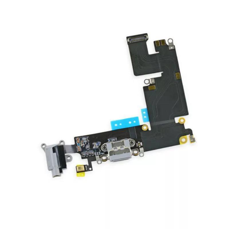 Шлейф iPhone 6 с разъёмом зарядки, коннектором наушников и микрофоном белый