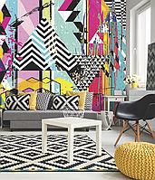 Обои поп-арт в гостиную дизайнерские Абстррактная Геометрия Abstract Geometry 465 см х 280 см