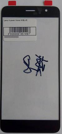 Стекло модуля для Huawei Honor 8 blue, фото 2