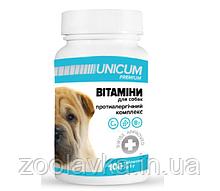 Вітаміни Унікум преміум UNICUM premium для собак протиалергічний комплекс 100 таблеток 100г