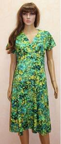 Летнее платье большого размера с разным рисунком из вискозы 48-58 р