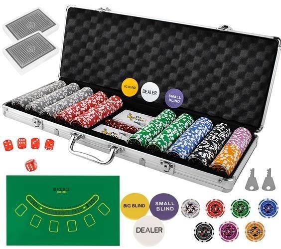 Гра Покер - професійний покерний набір з 500 жетонів у валізі HQ Poker Игра 500 жетонов