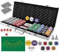 Гра Покер - професійний покерний набір з 500 жетонів у валізі HQ Poker Игра 500 жетонов, фото 1