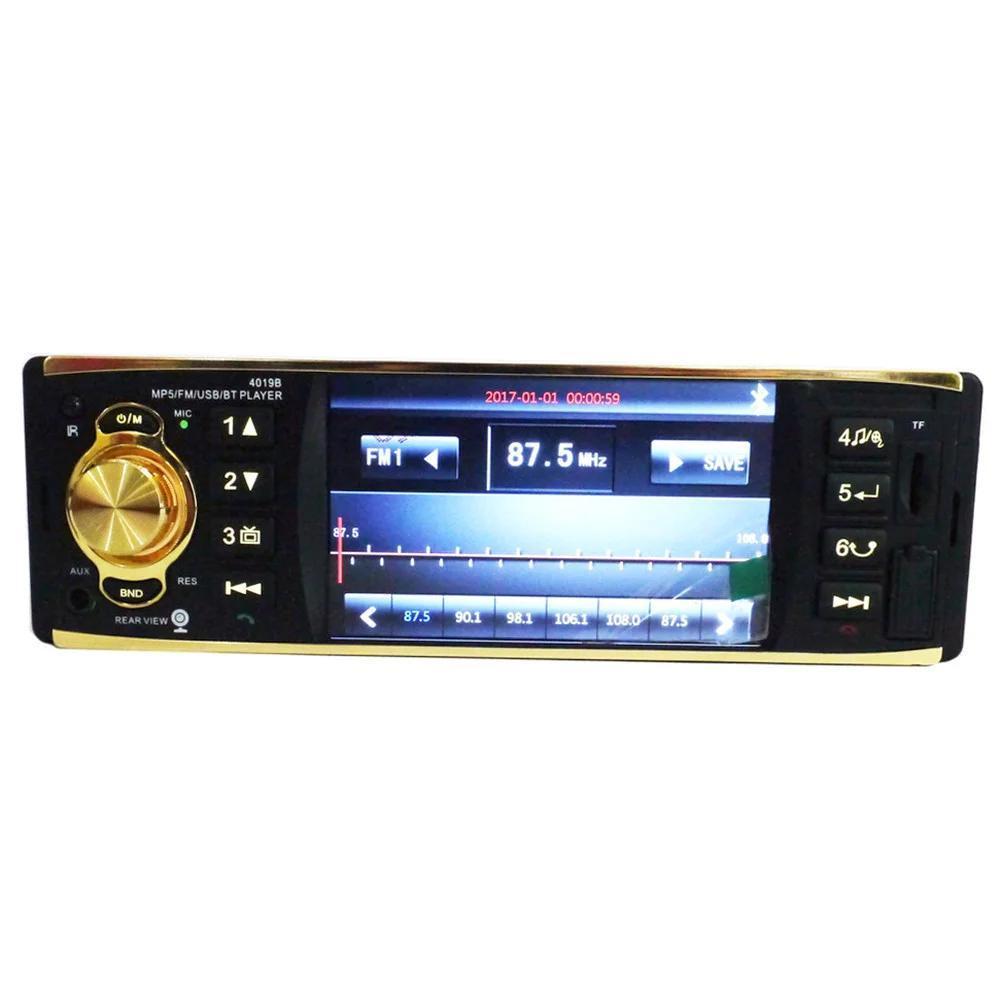 Автомагнитола MP5 плеер 1 Din 4 дюйма HD сенсорный экран Bluetooth RDS FM AUX USB TF пульт дистанционного