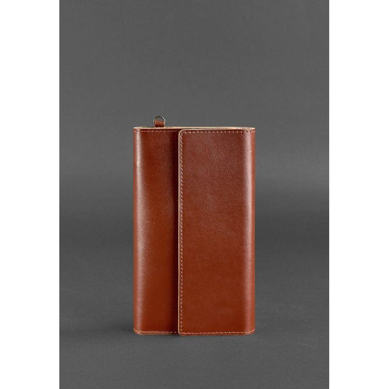 Кожаный клатч-органайзер (Тревел-кейс) 5.1 светло-коричневый