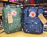Сумка-рюкзак канкен зеленый с рисунками Fjallraven Kanken Green Fable classic 16 л, фото 7