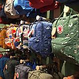 Сумка-рюкзак канкен зеленый с рисунками Fjallraven Kanken Green Fable classic 16 л, фото 8