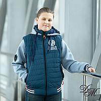 """Куртка-жилет  для мальчика демисезонная """"Ранклин """" 32-40"""