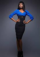 Платье Черно-Синее Эффект Утяжки S-XL