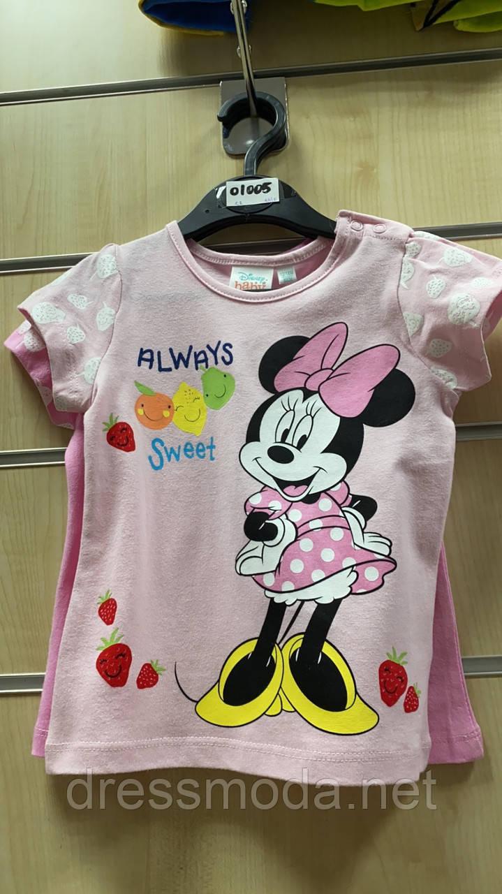 Футболки для девочек (бейби) Minnie от Disney 6-23 мес.