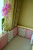 Комплект детской постели для кроватки с бортиками от Mimirada baby. Возраст 0+