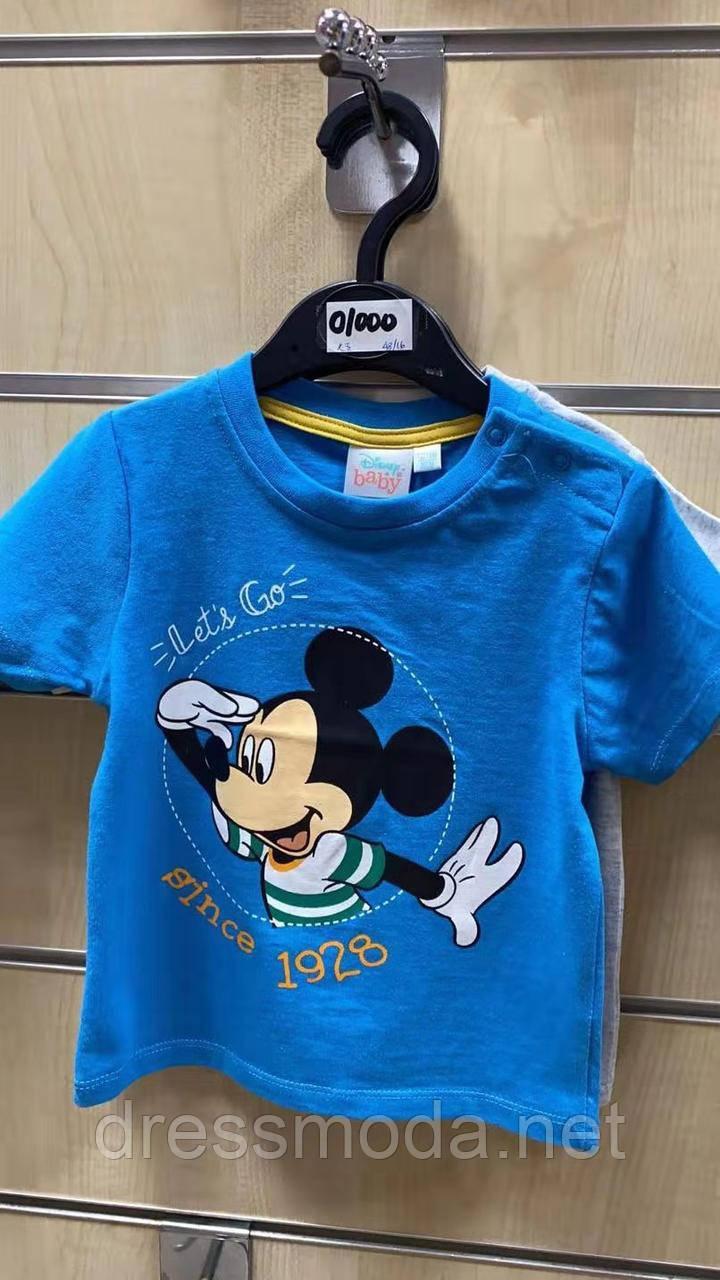 Футболки трикотажные для мальчика (бейби) Mickey от Disney 6-23 мес.