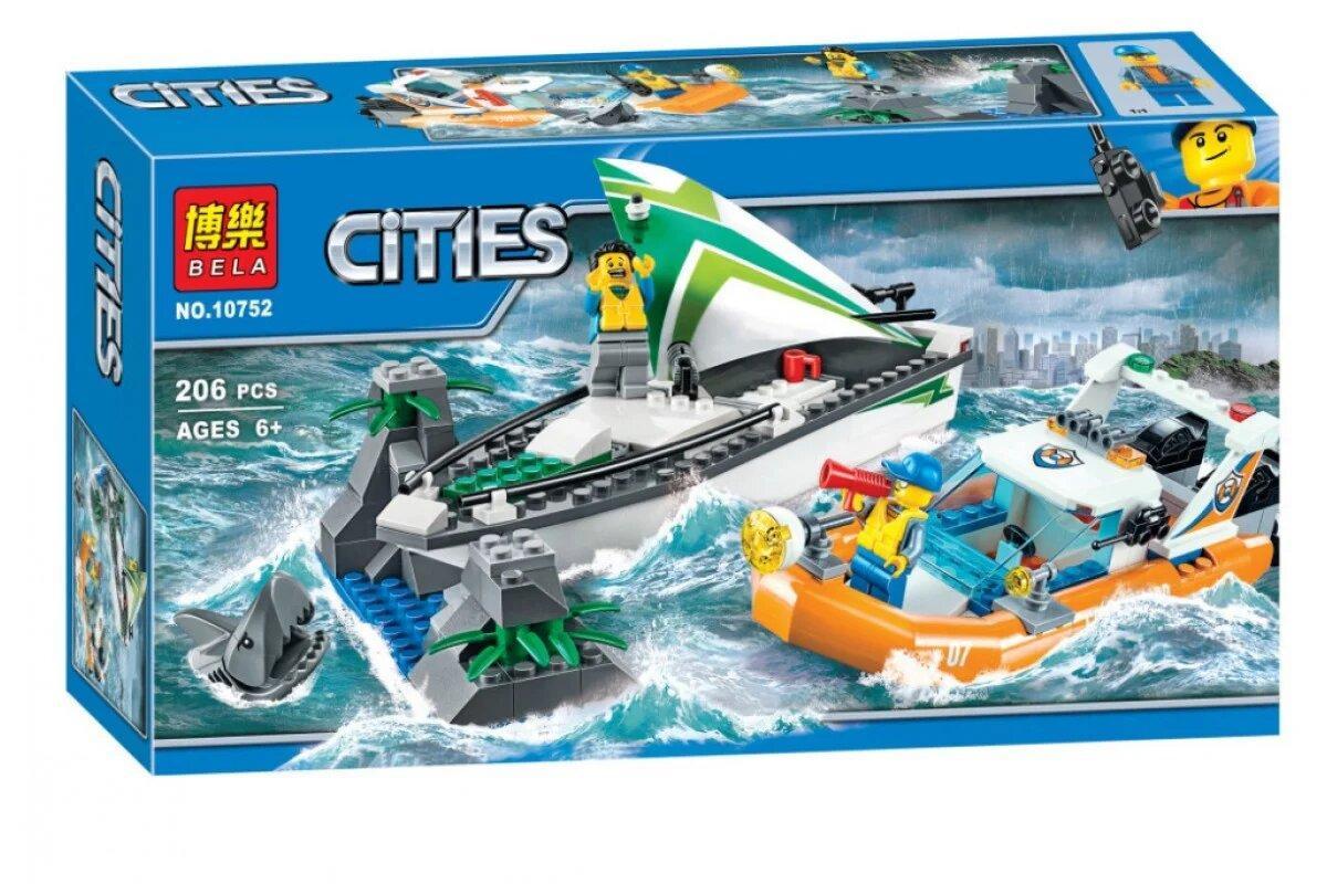 """Конструктор Bela 10752 (Аналог Lego City 60168), 206 дет. """"Операция по спасению парусной лодки"""""""