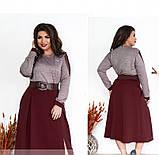 Платье женское большого размера цвет-бордо, фото 2