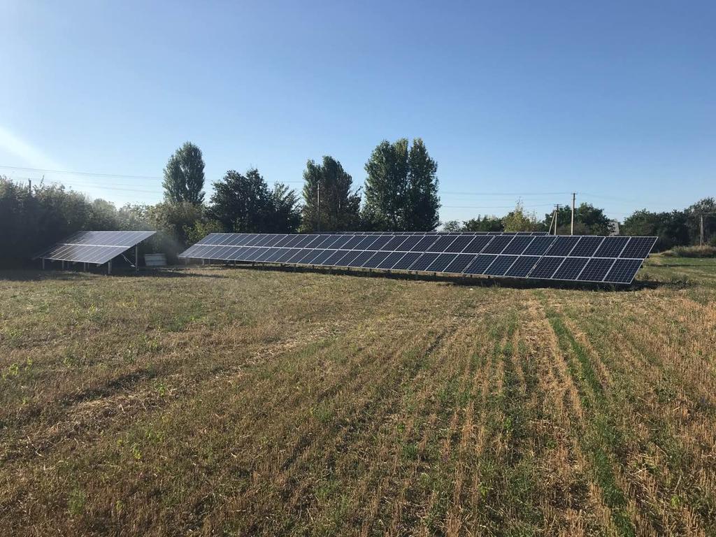 """Фроловка солнечная электростанция под """"зеленый"""" тариф мощностью 40 кВт Leapton + Huawei Киевская область"""