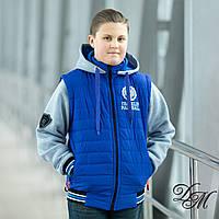 """Куртка-жилет  для мальчика демисезонная """"Ранклин """"32-40"""