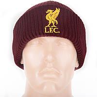 Шапка зимняя (крупная вязка) с логотипом ФК Ливерпуль