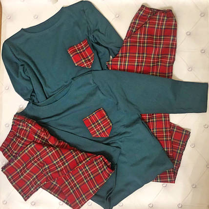 """Трикотажный женский комплект для сна """"SCOTLAND"""" с длинным рукавом, фото 2"""