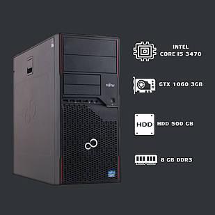 Игровой Компьютер intel core i5 3470+GTX 1060 3gb+ 8gb ddr3.