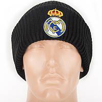 Шапка зимняя (крупная вязка) с логотипом ФК Реал Мадрид (Fc Real Madrid), фото 1