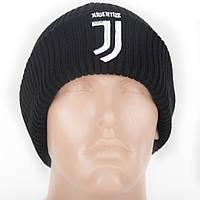Шапка зимняя (крупная вязка) с логотипом ФК Ювентус (Fc Juventus), фото 1