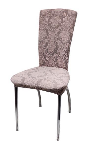 Чехлы на стулья жаккард набор 6 шт Розовые