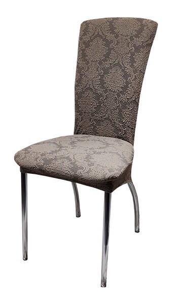 Чехлы на стулья жаккард набор 6 шт Коричневые