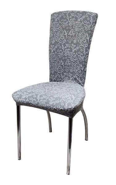 Чехлы на стулья жаккард набор 6 шт Серые 2