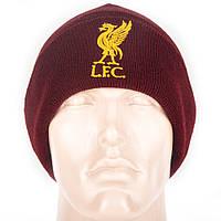 Шапка зимняя вязанная с логотипом ФК Ливерпуль, фото 1