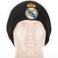 Шапка зимняя вязанная с логотипом ФК Реал Мадрид (Fc Real Madrid), фото 1