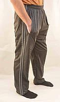 Брюки спортивные мужские трикотажные с полосками XL - 5XL Штаны повседневные Ao Longcom, фото 2