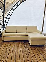 Угловой кожаный раскладной диван «Фиоль»