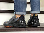 Мужские кроссовки Nike Air Max 270 (серо-черные), фото 3